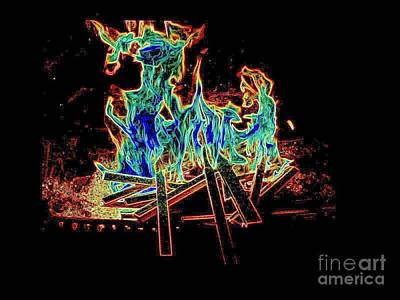 Photograph - Fire Devils  by Al Hunter