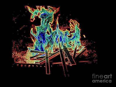 Photograph - Fire Devils  by Al Hunter