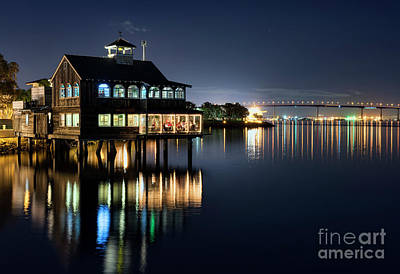 Art Print featuring the photograph Edgewater Grill by Eddie Yerkish