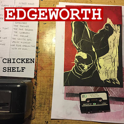Edgeworth Chicken Shelf Cover Art Print