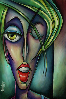 Featured Images Painting - Edgey by Michael Lang