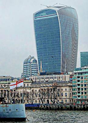 Photograph - Edging Toward The Walkie Talkie Building London by Dorothy Berry-Lound