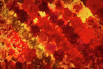 Edgy Flowers Through Glass Art Print