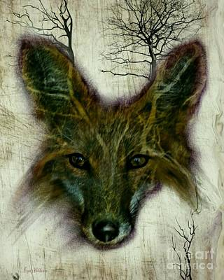 Craig Digital Art - Edgy Fox by Craig Williams