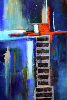 Painting - Edifice Abstract Art by Nancy Merkle