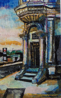 Mixed Media - Edina Bank by Laurie Tietjen