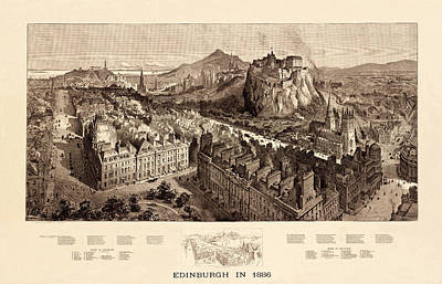 Photograph - Edinburgh 1886 by Andrew Fare