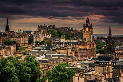 Photograph - Edinburgh by Andrew Matwijec