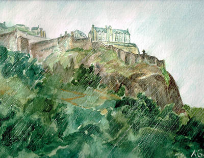 Painting - Edinburgh Castle by Andrew Gillette