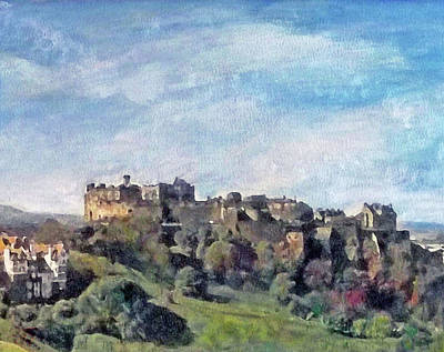 Painting - Edinburgh Castle Bright by Richard James Digance