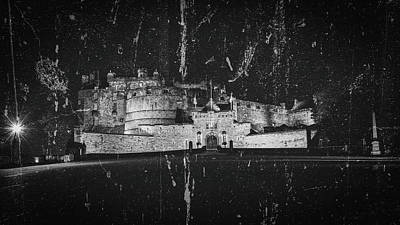 Photograph - Edinburgh Castle By Night Fine Art A by Jacek Wojnarowski