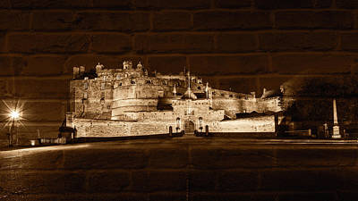 Photograph - Edinburgh Castle By Night Fine Art B by Jacek Wojnarowski