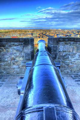 Photograph - Edinburgh Castle Cannon by David Pyatt
