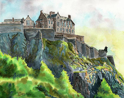 Painting - Edinburgh Castle From Princes Street by Timithy L Gordon