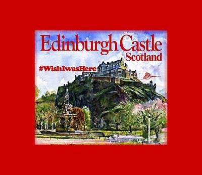 Painting - Edinburgh Castle by John D Benson