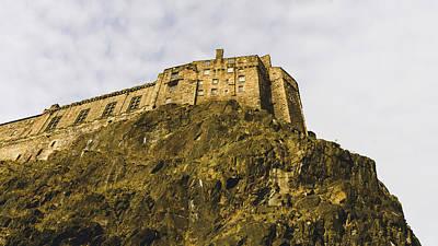 Photograph - Edinburgh Castle On Top Of The Cliff by Jacek Wojnarowski