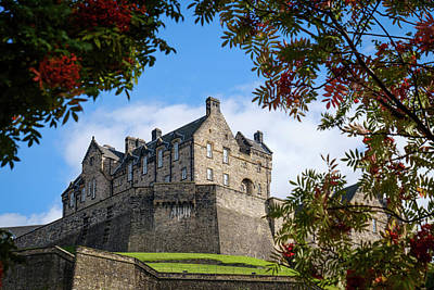 Photograph - Edinburgh Castle by RKAB Works
