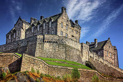 Edinburgh Castle Photograph - Edinburgh Castle Scotland  by Carol Japp