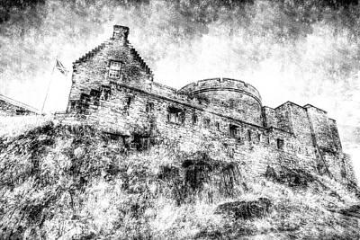 Photograph - Edinburgh Castle Vintage by David Pyatt