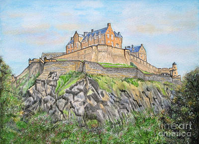 Painting - Edinburgh Castle by Yvonne Johnstone