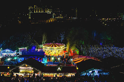Photograph - Edinburgh - Christmas Market By Night by Edyta K Photography