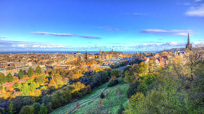 Photograph - Edinburgh City View Panorama by David Pyatt