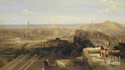Design Pics Painting - Edinburgh From The Castle by Celestial Images
