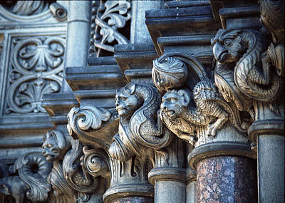 Photograph - Edinburgh Gargoyles by Kenneth Campbell