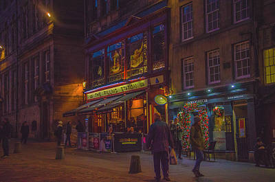 Photograph - Edinburgh - Night Life by Edyta K Photography