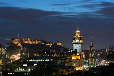Photograph - Edinburgh On A Winter's Night by Veli Bariskan
