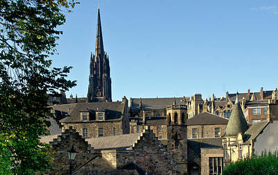Photograph - Edinburgh Rooftops And Highland Tolbooth St John's Church. by Elena Perelman