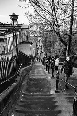 Photograph - Edinburgh Rush Hour by David Warrington