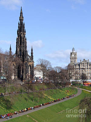 Photograph - Edinburgh - Scott Monument And The Balmoral Hotel by Phil Banks