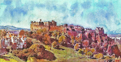 Painting - Edinburgh Skyline No 1 by Richard James Digance