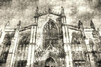 Photograph - Edinburgh St Giles Cathedral Vintage by David Pyatt