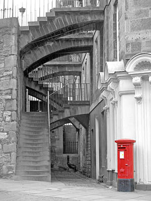 Photograph - Edinburgh Steps by Rod Jones