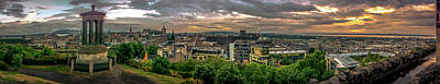 Photograph - Edinburgh Sunset by Andrew Matwijec