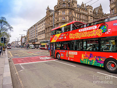Photograph - Edinburgh Tour Bus by Jim Orr