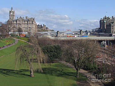 Photograph - Edinburgh - Waverley And North Bridges by Phil Banks