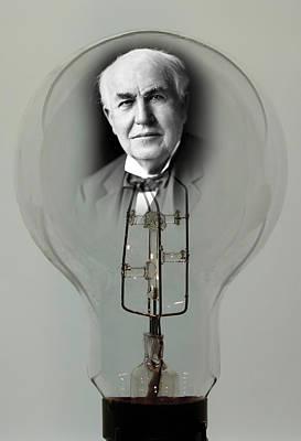 Digital Art - Edison Bulb Tribute by Daniel Hagerman