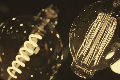 Photograph - Edison Bulbs by Jamart Photography