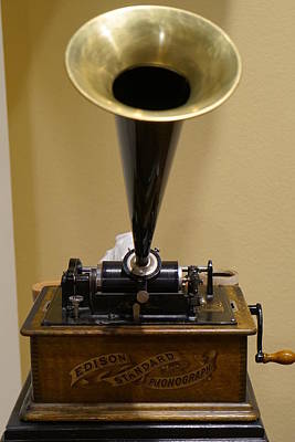 Photograph - Edison Phonograph by Laurie Perry
