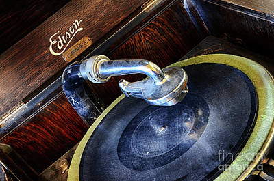 Photograph - Edison Record Player by Bob Christopher
