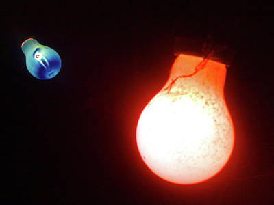 Photograph - Edison Red And Blue by Ross Carroll