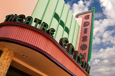 Edison Theatre - Ft. Myers, Florida Art Print by Mitch Spence