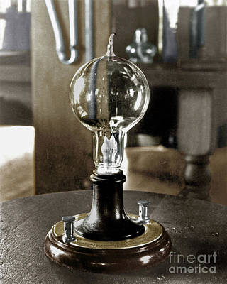 Photograph - Edison's Light Bulb, 1879 by Granger