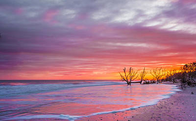 Edisto Beach Sunset Art Print by RC Pics