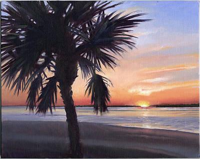 Palmetto Painting - Edisto Sunset by Todd Baxter