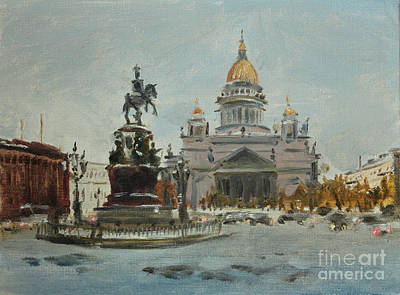 City Lanscape Painting - Edit Item   View On Issac Cashedral.st.petrsburg by Kate Kozlova