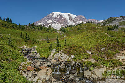 Traditional Bells Rights Managed Images - Edith Creek Mount Rainier Royalty-Free Image by Marv Vandehey